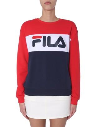 Fila Leah Logo Print Colour Block Crewneck Sweatshirt