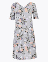 Marks and Spencer Linen Blend Floral Shift Dress
