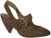 Max Studio Bask Waxed Suede Sling Back Mary Janes