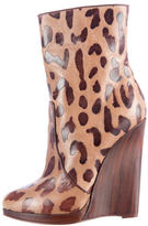 Casadei Leopard Ankle Boots