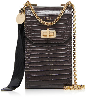 Givenchy Catena Mini Lizard-Effect Shoulder Bag