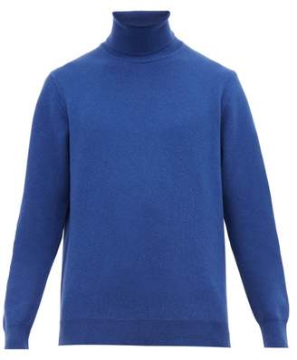 Altea Roll Neck Wool Blend Sweater - Mens - Blue