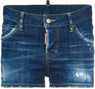 DSQUARED2 Distressed Denim Shorts