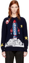 Dolce & Gabbana Navy Spaceship Sweater