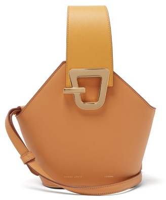 Danse Lente Johnny Mini Leather Bucket Bag - Womens - Orange Multi