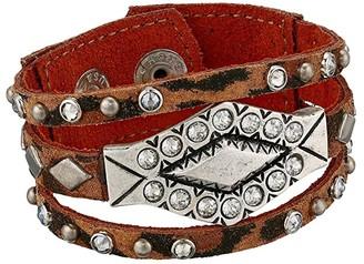Leather Rock Brandy Bracelet (Leopard Tan) Bracelet