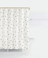 Kate Spade Deco Cotton Dot-Print Shower Curtain