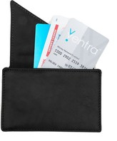 Holly & Tanager Insider Leather Card Holder Wallet In Black