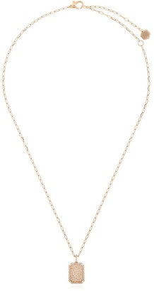 Shay 18kt rose gold ID pendant diamond necklace