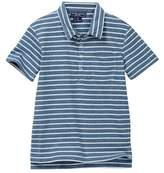 Toobydoo Skate Blue Striped Polo (Toddler & Little Boys)