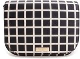 Kate Spade Black & White Windowpane Laurel Way Carsen Crossbody Bag