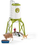 Schleich Farm World Feed Silo with Animals Figure Set by