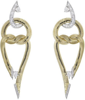 Nikos Koulis Feelings 18k Double-Loop Diamond Earrings