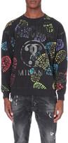 Moschino Boot-print cotton-jersey sweatshirt