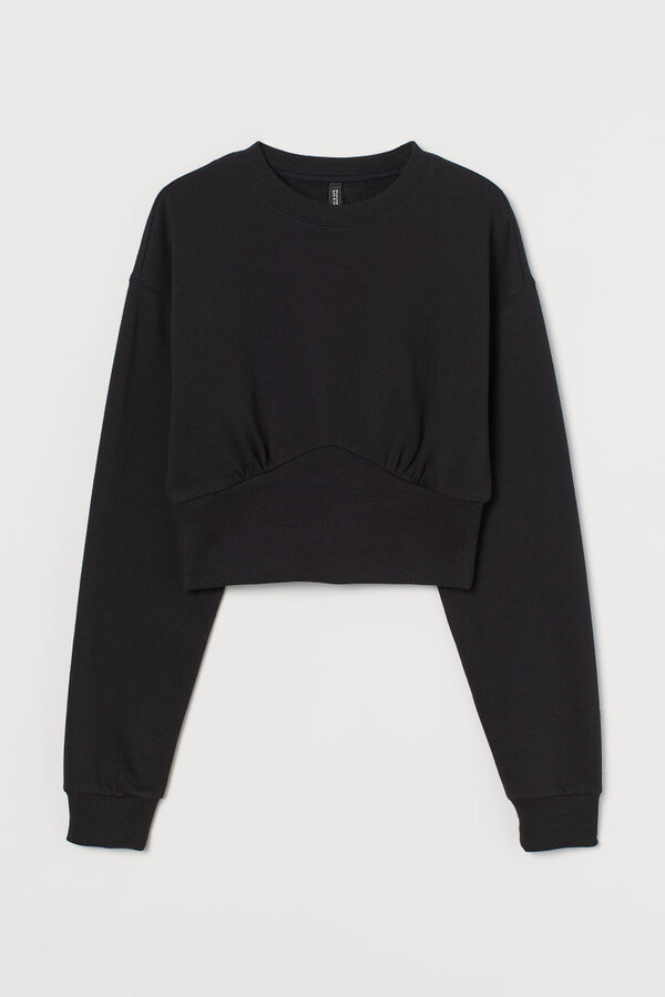 Thumbnail for your product : H&M Cropped Sweatshirt - Black
