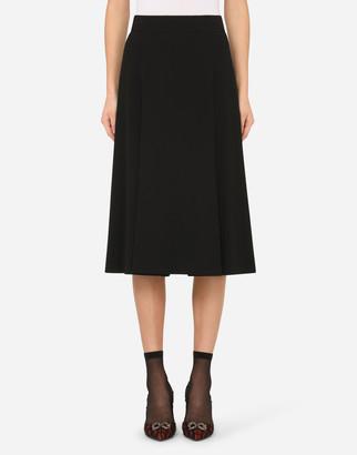 Dolce & Gabbana Midi Skirt In Cady