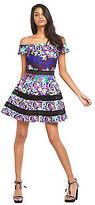 Very Printed Bardot Prom Dress