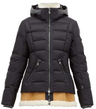 Bogner Elya-d Shearling-insert Down-filled Jacket - Womens - Black