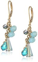 "lonna & lilly Life's A Gem"" Worn Gold-Tone and Blue Multi-Shakey Drop Earrings"