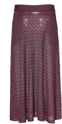 Wales Bonner Jacquard-Knit Midi Skirt
