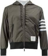 Thom Browne stripes hooded bomber jacket