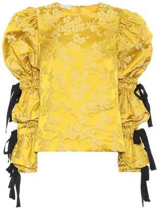 Dries Van Noten Floral-jacquard blouse