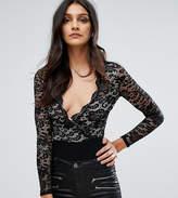 Club L Lace Wrap Bodysuit