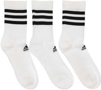 adidas Pack Of 3 Cotton Blend Socks