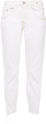 R 13 Alison Distressed Mid-rise Slim-leg Jeans