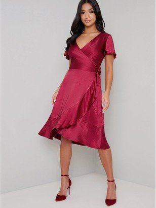 Chi Chi London Chrysta Dress - Red