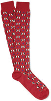 Etro - Penguin-patterned Cotton-blend Socks