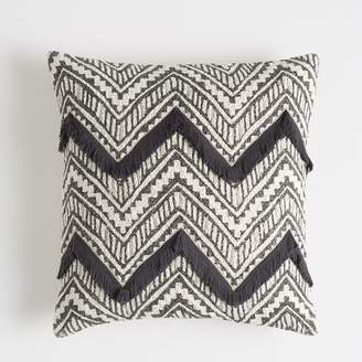 Pottery Barn Teen Woven Chevron Pillow Cover, 18&quotx18&quot, Periwinkle