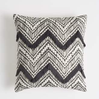 Pottery Barn Teen Woven Chevron Pillow Cover, 18&quotx18&quot, Vintage Ebony
