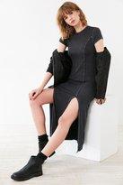 Silence & Noise Silence + Noise Cynthia Thigh-Slit Knit Midi Dress