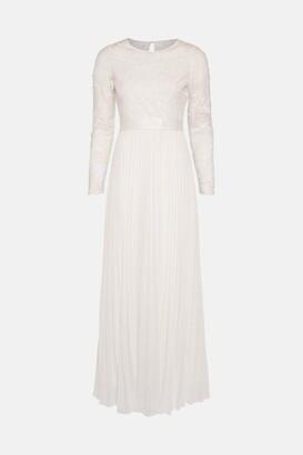 Coast Embroidered Long Sleeve Maxi Dress