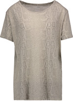 Majestic Snake-print cotton, cashmere and silk-blend T-shirt