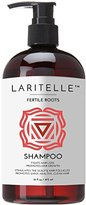 Laritelle Organic Shampoo, Fortifying, Strengthening and Rejuvenating, Stops Hair Shedding, Promotes New Hair Growth, Ayurvedic Herbs, Lavender, Ginger, Rosemary, Patchouli and Cloves, 16 oz