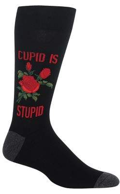 Hot Sox Cupid Is Stupid Crew Socks