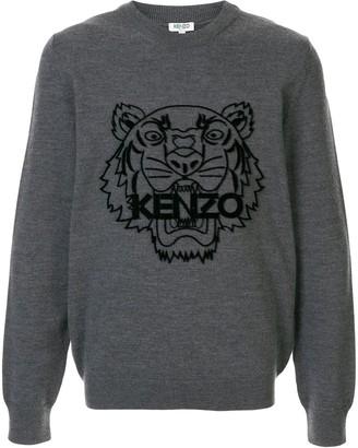 Kenzo Tiger motif jumper