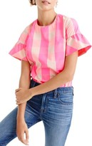 J.Crew Women's Ruffle Sleeve Top