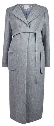 Dorothy Perkins Womens Dp Maternity Grey Wrap Coat, Grey