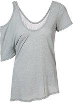 Unravel Project - scoop neck one-shoulder top - women - Cotton - XS