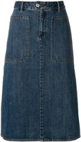 A.P.C. denim pencil skirt