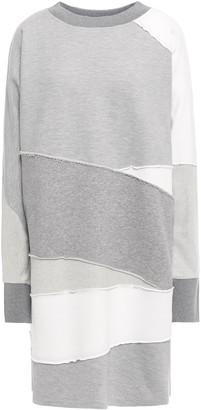 McQ Patchwork Melange French Cotton-terry Mini Dress