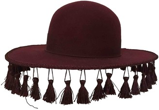 Brixton Burgundy Wool Hats