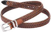 Perry Ellis Braided Leather Belt