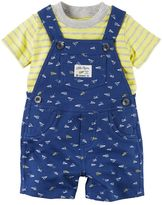 Carter's Baby Boy Tee & French Terry Shortalls Set