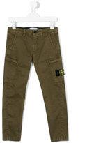 Stone Island Kids logo patch cargo trousers