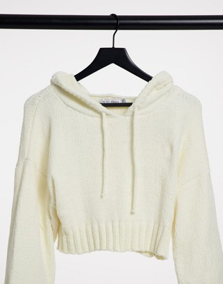 In The Style x Billie Faiers knitted hoody set in white