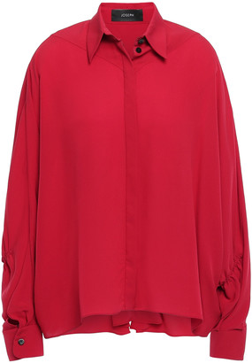 Joseph Yeats Gathered Silk-crepe Shirt